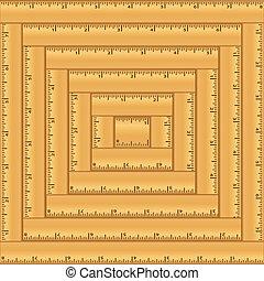 Wood Rulers Background