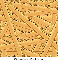Wood Rulers Background Pattern