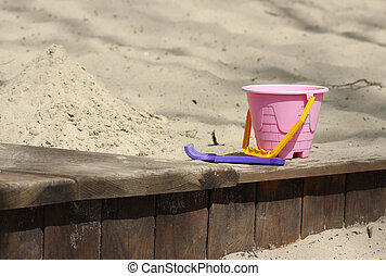 sandbox - wood sandbox in the park