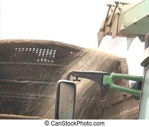 wood sawdust chip trailer - wood branches shavings sawdust...