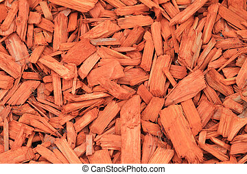 wood shavings - red woodchips as textured background