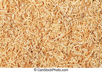 Wood shavings as a background and texture