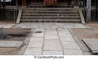 Wood shrine in Osaka, Japan. General Japanese temple