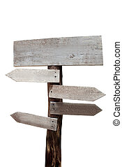 wood sign isolated on a white backg