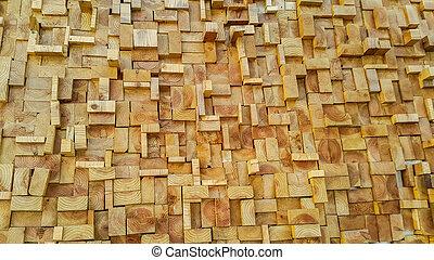 Wood slice square texture