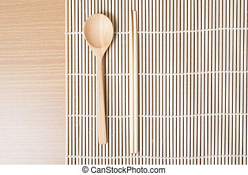 wood spoon and chopstick