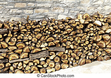 Wood Stack of various forms