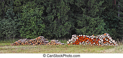 Wood stacks