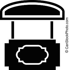 Wood stall icon, simple black style - Wood stall icon....