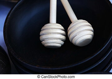 wood stick in bowl