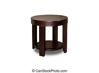 Wood stool isolated on a white background