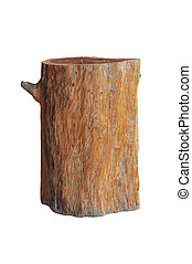wood stool isolated on white