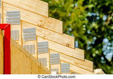 wood stud construction