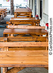 Wood Tables and Benches