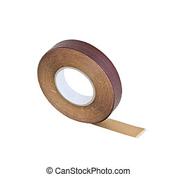 wood tape isolated on white background with clipping path