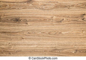 Wood Texture Background, Brown Grained Wooden Pattern, Oak Timber Desk striped surface with knots