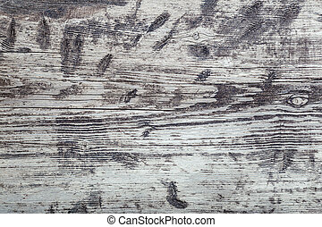 Wood texture background. Gray old wooden plank aged shabby texture as background. Top view rustical wooden background