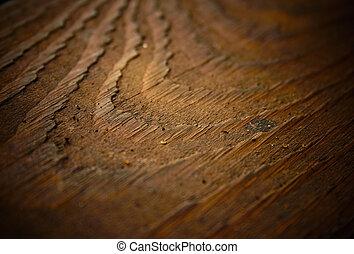 Wood texture background, shallow DOF.