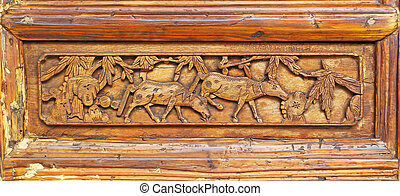 wood texture carving background