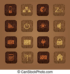 wood texture computer buttons eps10