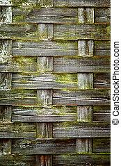 WOOD TEXTURE - GREEN, CROSSED 1