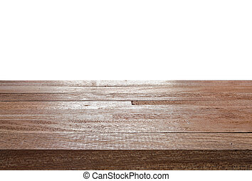 Wood texture top on isolated