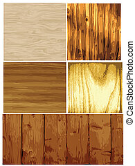 Wood Texture Vector - Vector set of several wood textures,...