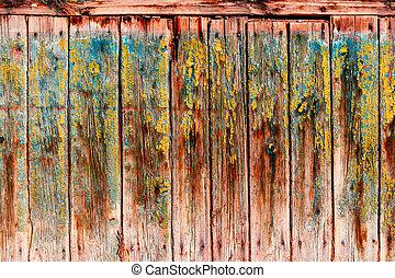 Wood texture, wood planks with peeling paint