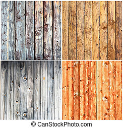 Wood textures collage