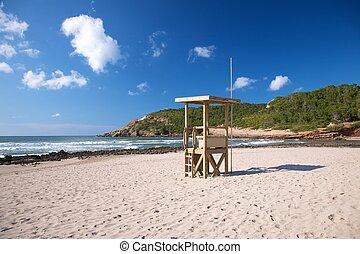 wood tower beach guard