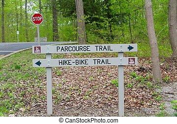 Wood Trail Sign