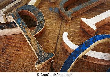 Wood type fonts