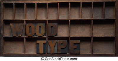 wood type in a case
