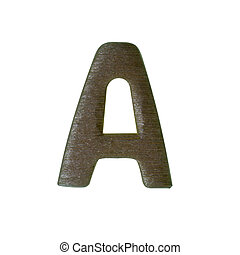 Wood type on white background