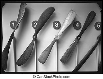 wood vintage propellers