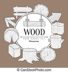 Wood Vintage Sketch