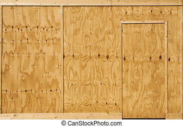 Wood wall and door
