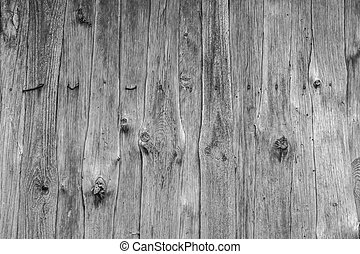 wood wall black-and-white