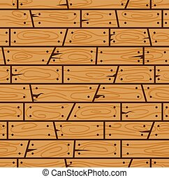 Brown wood wall cartoon seamless pattern. Suitable for background, game tilemap asset and many more.