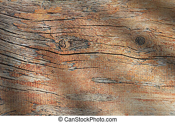 Wood weathered plank brown texture background.