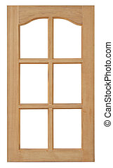 Wood window isolated for home construction on white...