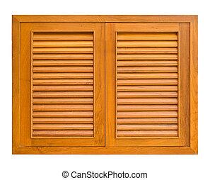 Wood windows of cabinet