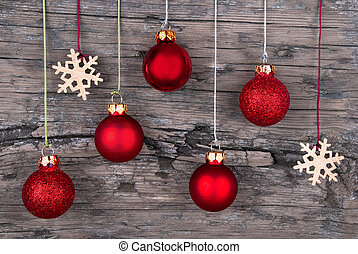Wood with Christmas Decoration