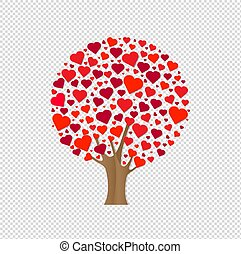 Wood With Hearts Transparent Background