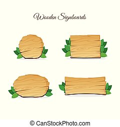 wood wooden signage vector art