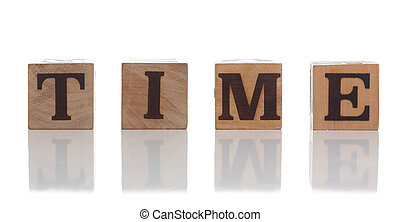 Wood word isolated