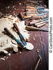 woodcarver, 道具