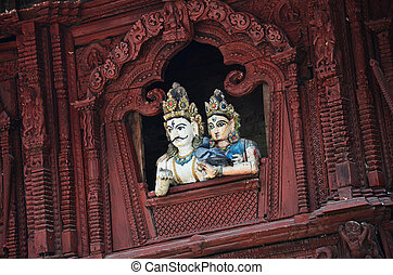 Woodcarving at Durbar square