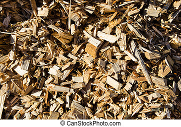 Detail from a woodchips stack