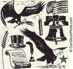 woodcut, americana